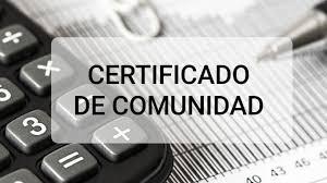 Certificado Comunidad de Propietarios vivienda de lujo
